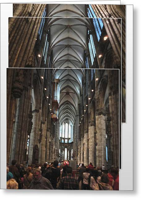 Cologne Germany - High Cathedral Of St. Peter - 01 Greeting Card by Gregory Dyer