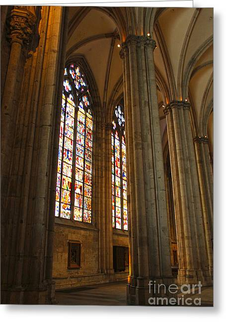 Cologne Germany - High Cathedral Of St. Peter - 02 Greeting Card by Gregory Dyer