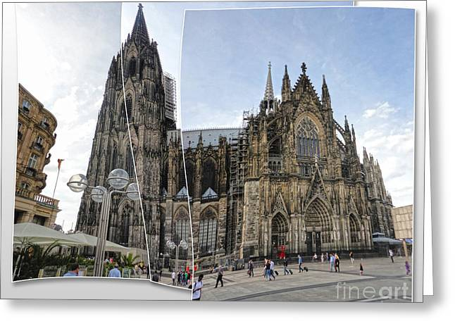 Cologne Germany - High Cathedral Of St. Peter - 03 Greeting Card by Gregory Dyer
