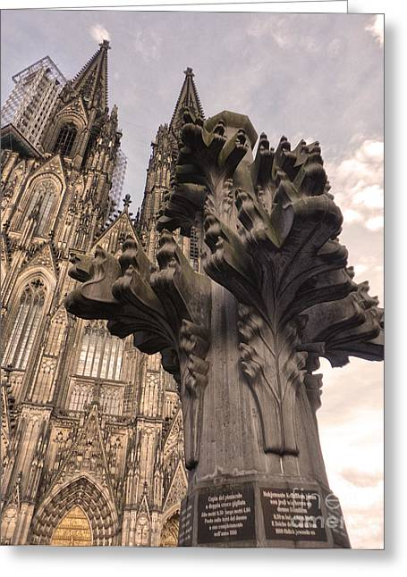 Cologne Germany - High Cathedral Of St. Peter - 08 Greeting Card by Gregory Dyer
