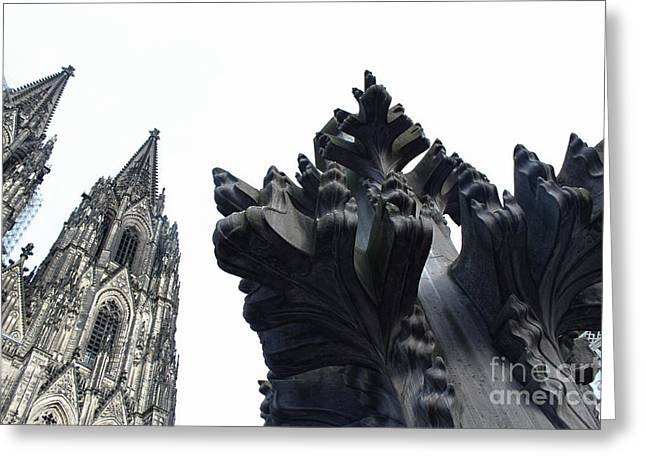 Cologne Germany - High Cathedral Of St. Peter - 09 Greeting Card by Gregory Dyer