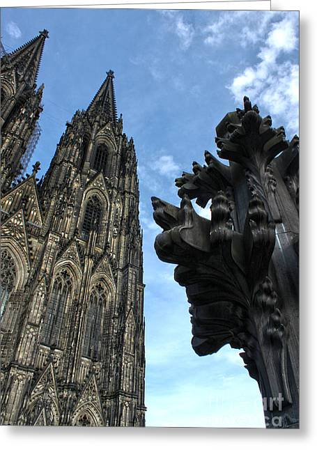 Cologne Germany - High Cathedral Of St. Peter - 13 Greeting Card by Gregory Dyer