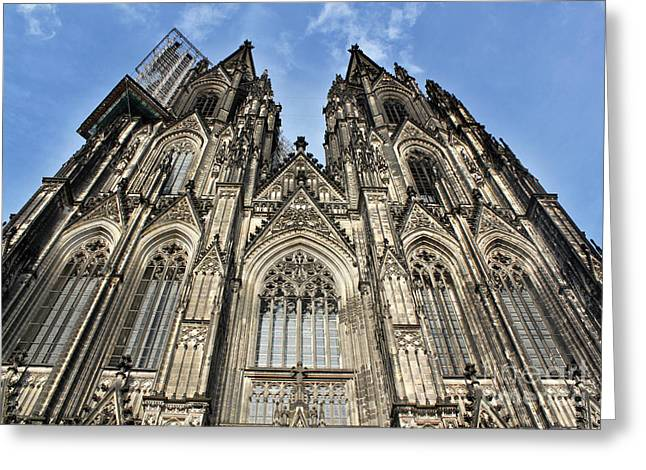 Cologne Germany - High Cathedral Of St. Peter - 16 Greeting Card by Gregory Dyer