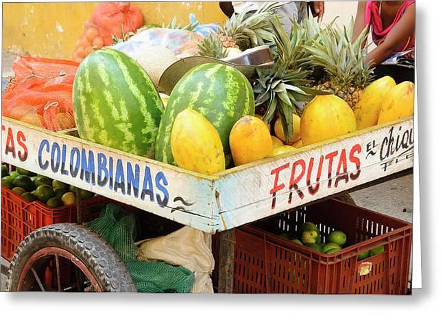 Colombia, Cartagena Greeting Card by Matt Freedman
