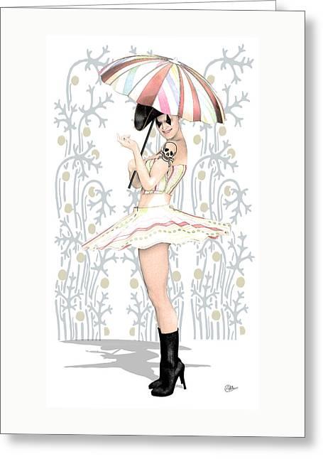 Daisy Commedia Dell'arte  Greeting Card by Quim Abella