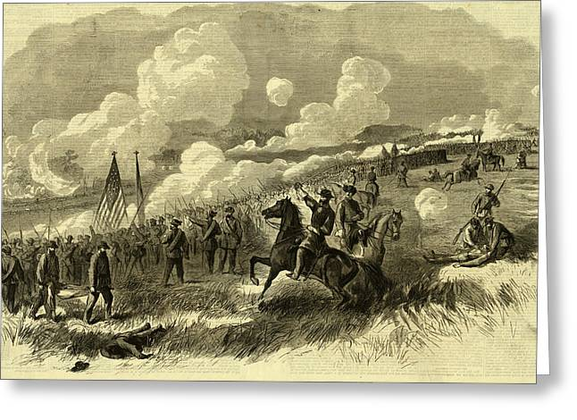 Colonel Burnsides Brigade At Bull Run, First And Second Greeting Card