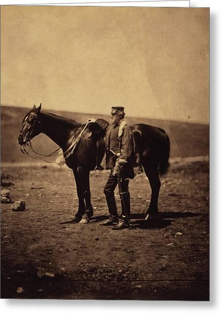 Colonel Dickson, Royal Engineers, Crimean War Greeting Card