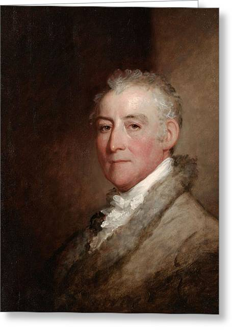 Colonel John Trumbull, 1818 Oil On Wood Panel Greeting Card by Gilbert Stuart