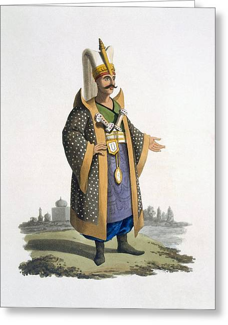 Colonel Of The Janissaries With Jewels Greeting Card