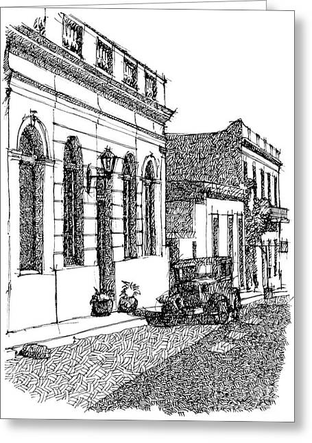 Old Ford On Colonia Uruguay Greeting Card