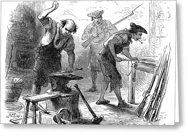 Colonial Blacksmith, 1776 Greeting Card by Granger