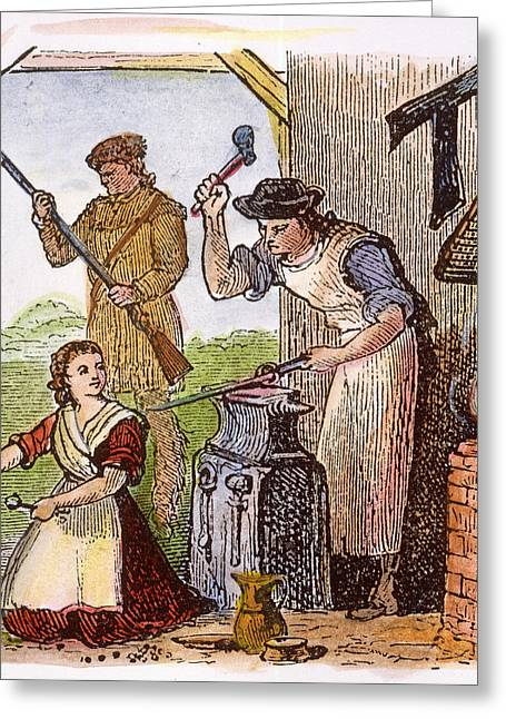Colonial Blacksmith, 18th C Greeting Card by Granger