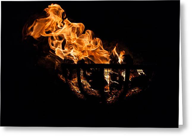 Fire Cresset Two Greeting Card