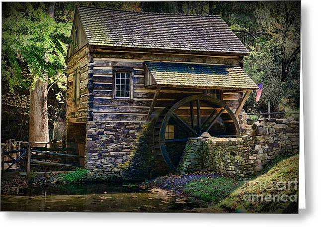 Colonial Grist Mill Greeting Card by Paul Ward