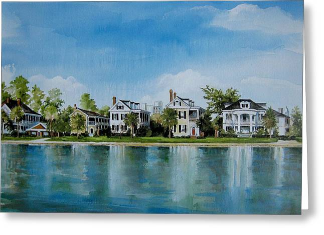 Colonial Lake In Charleston  Greeting Card