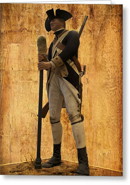 Colonial Soldier Greeting Card by Thomas Woolworth