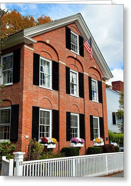 Colonial Style Building In Woodstock Greeting Card by Brian Jannsen