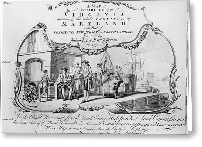 Colonial Virginia, 1775 Greeting Card by Granger