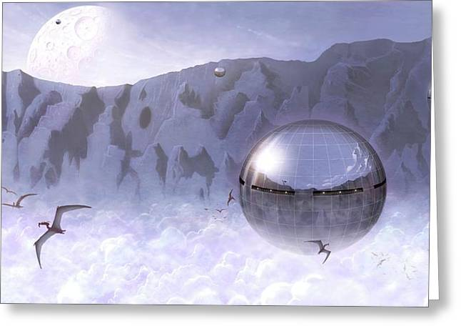 Colonisation Of Alien World Greeting Card