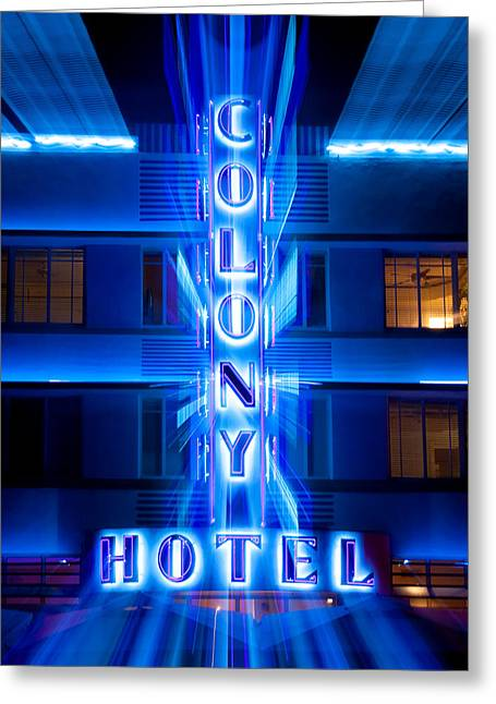 Colony Hotel 2 Greeting Card by Dave Bowman