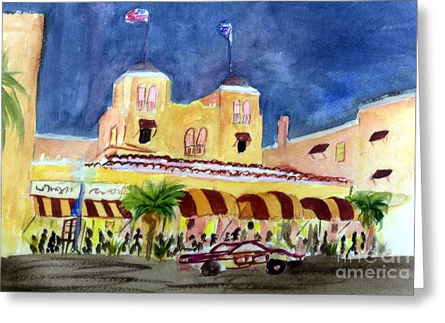 Colony Hotel In Delray Beach Greeting Card
