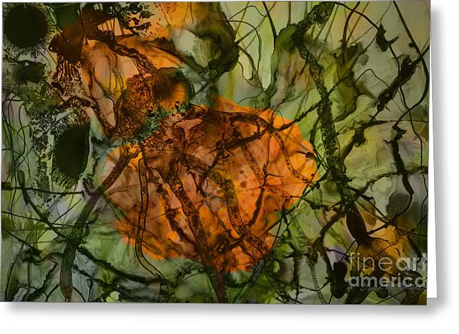 Color Abstraction Xx Greeting Card by David Gordon