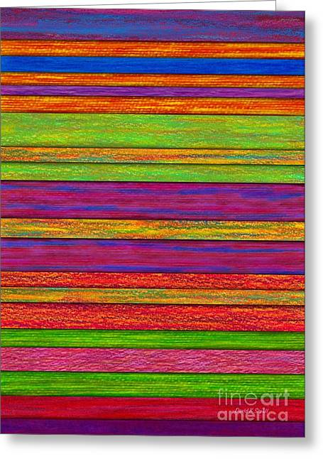 Color And Texture Greeting Card by David K Small