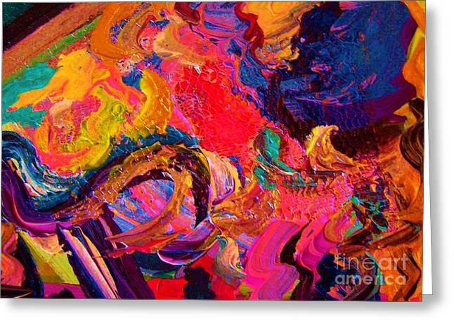 Color And Texture Greeting Card by Eloise Schneider