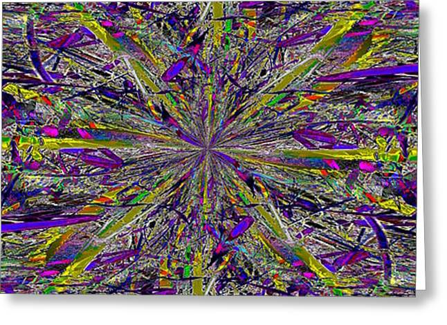 Color Boom Greeting Card by Tim Allen