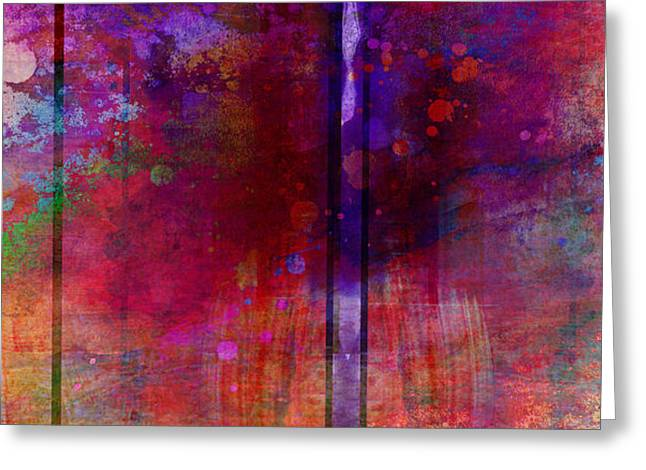 Color Burst Two Abstract Art  Greeting Card by Ann Powell