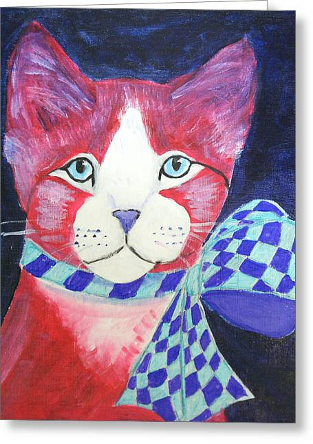 Color Cat 10 Greeting Card