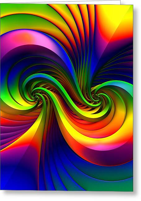 Color Circus Greeting Card by Lyle Hatch