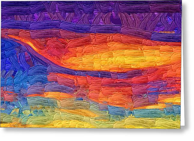 Greeting Card featuring the digital art Color Explosion by Kirt Tisdale