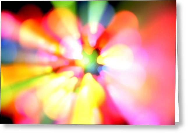 Color Explosion Greeting Card by Les Cunliffe