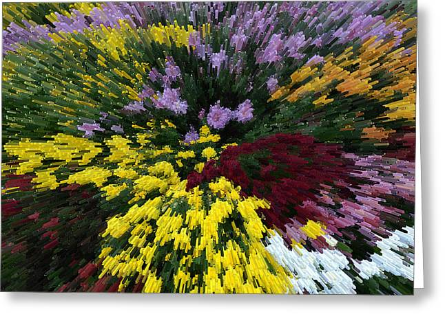 Color Explosion Greeting Card by Wanda Brandon