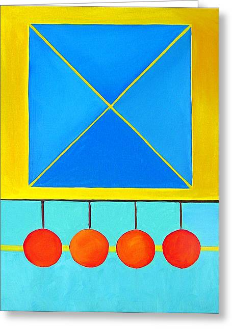Color Geometry - Square Greeting Card by Carolyn Goodridge