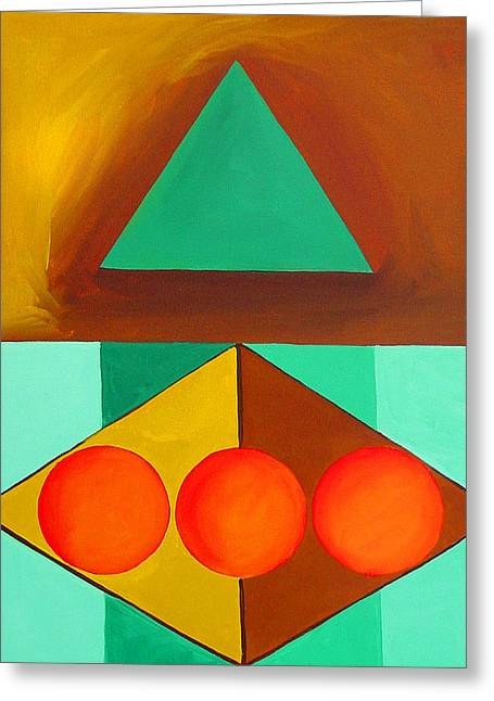 Color Geometry - Triangle Greeting Card by Carolyn Goodridge