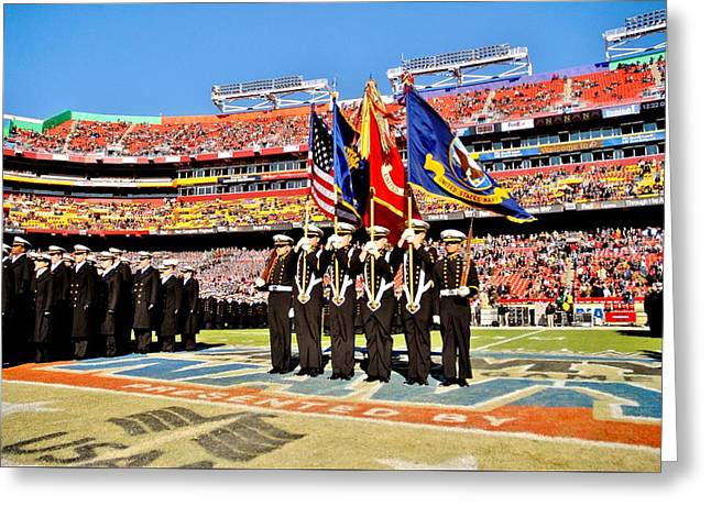 Color Guard Greeting Card by Benjamin Yeager