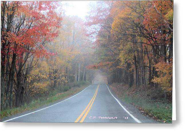 Color In The Country Greeting Card by Carolyn Postelwait