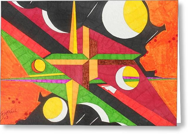 Color In Time Greeting Card by Willie McNeal