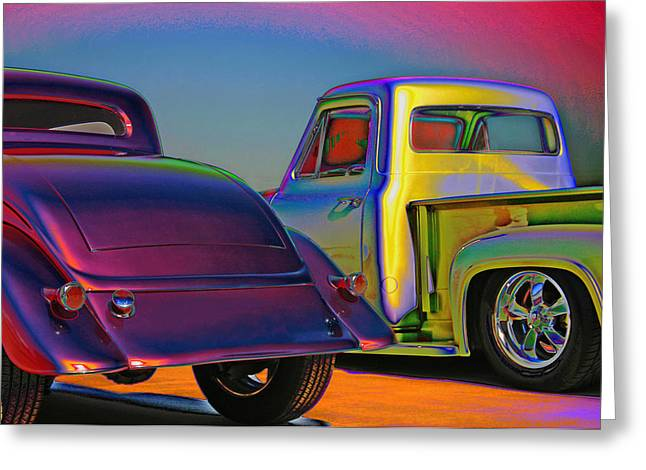 Greeting Card featuring the photograph Color Me A Hot Rod by Christopher McKenzie