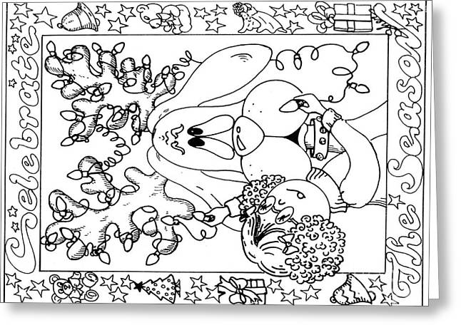 Color Me Card - Christmas Greeting Card