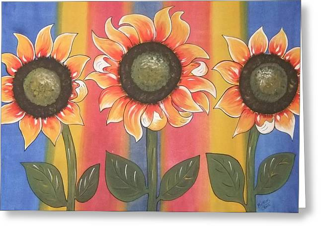Greeting Card featuring the painting Color Me Sunny by Cindy Micklos