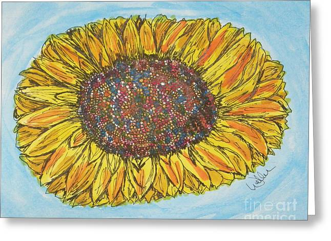 Color Me Sunshine Greeting Card by Marcia Weller-Wenbert