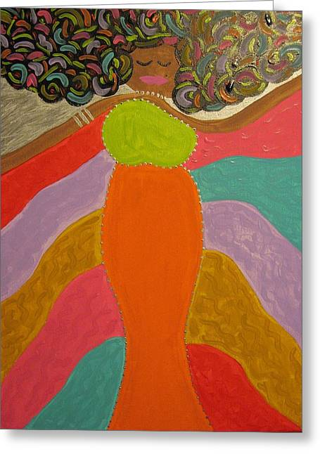 Color Of Dance Greeting Card by Clarissa Burton