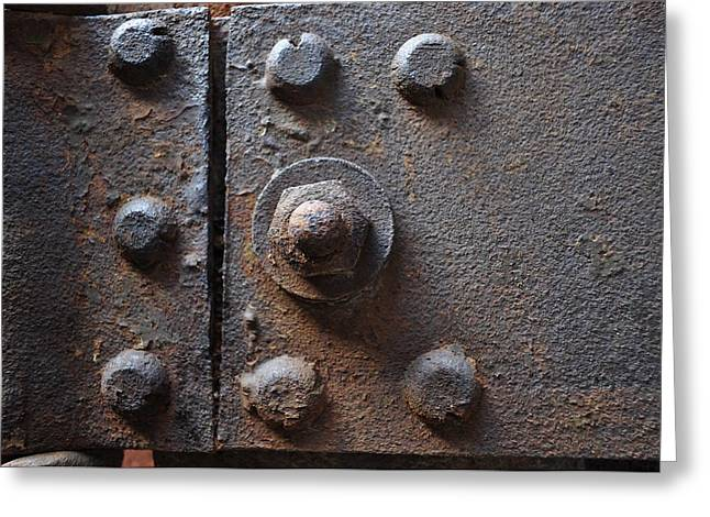 Greeting Card featuring the photograph Color Of Steel 3 by Fran Riley