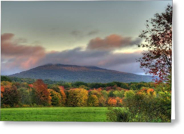 Color On Crotched Mountain - Nh Greeting Card by Joann Vitali