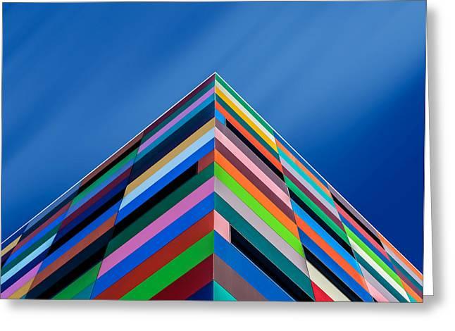 Color Pyramid Greeting Card