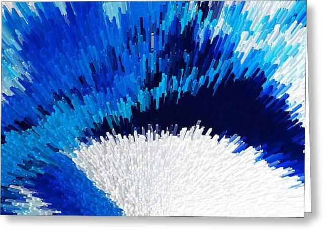 Color Shock 2 - Vibrant Digital Painting Art Greeting Card by Sharon Cummings