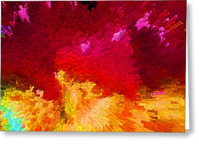 Color Shock 4 - Vibrant Digital Painting Greeting Card
